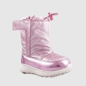 NEW pink toddler snow rain boots 10 11